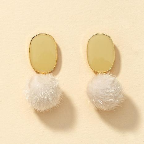 fashion hair ball earrings  NHGU290105's discount tags