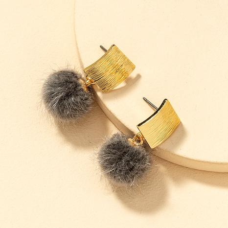 Fashion Mink Hair Ball Earrings  NHGU290106's discount tags