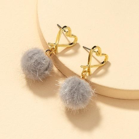 Fashion Mink Hair Ball Earrings  NHGU290107's discount tags
