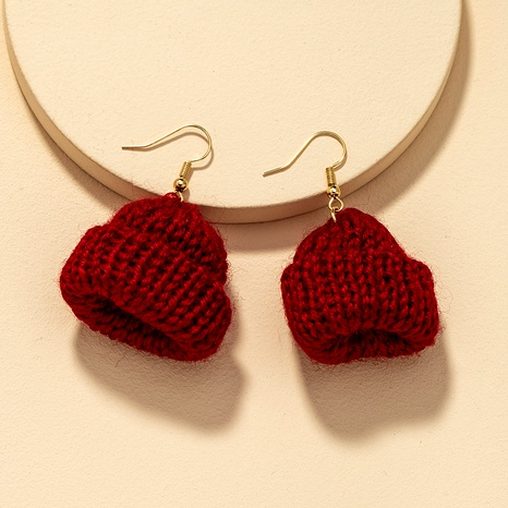 fashion knitted hat earrings  NHGU290111's discount tags