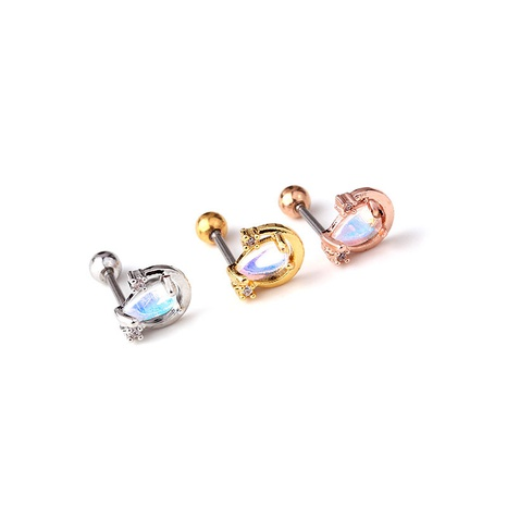 fashion zircon  single earring NHEN290092's discount tags