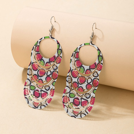 trendy  colorful multi-layer irregular circle hollow earrings NHGY290399's discount tags