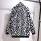 Plus size zebra print plush coat  NHIS290129