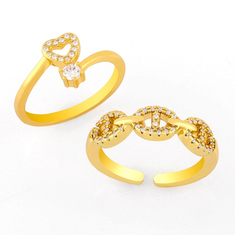 Fashion simple copper ring NHAS293698's discount tags