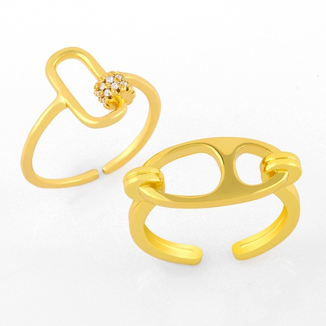 Korea retro geometric opening ring NHAS293700's discount tags