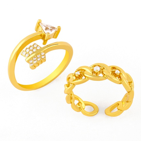 creative simple chain open ring NHAS293703's discount tags
