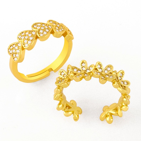 simple flower love ring NHAS293709's discount tags