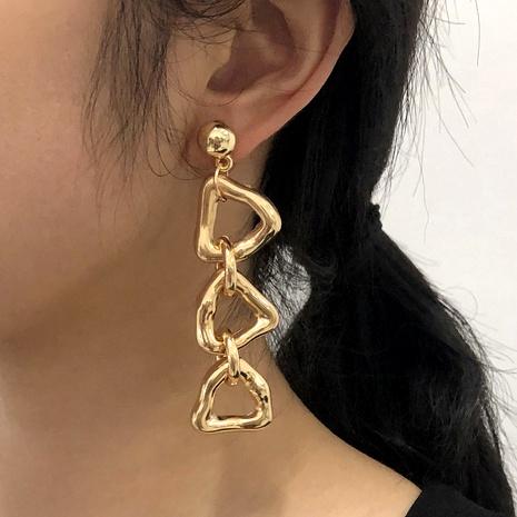 long irregular punk style earrings NHMD293711's discount tags
