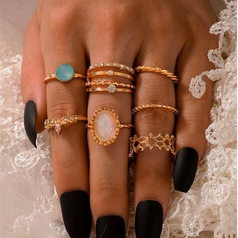 nuevo anillo bohemio con diamantes engastados de 7 piezas NHGY293735's discount tags