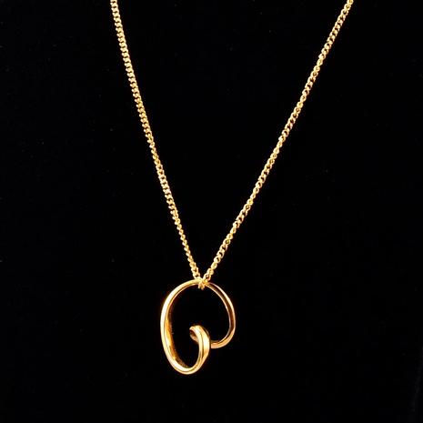 goldene Herzkette mit verdrehter Linie NHAB293776's discount tags