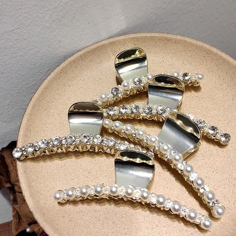 Legierung Perle eingelegt Diamant großes Wort oben Clip NHAR293945's discount tags