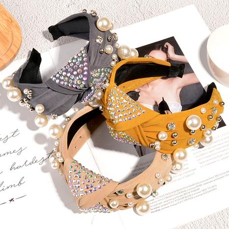 diadema de perlas con diamantes de moda NHAQ293972's discount tags