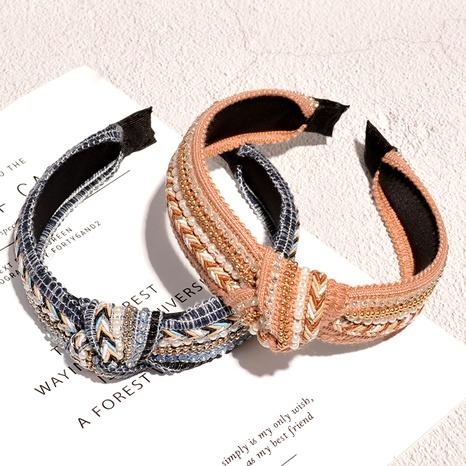 diadema de ala ancha con pedrería de perlas NHAQ293983's discount tags
