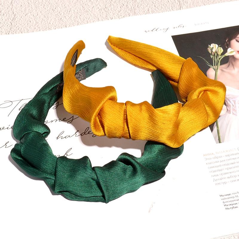 chiffon fashion solid color headband  NHAQ293986