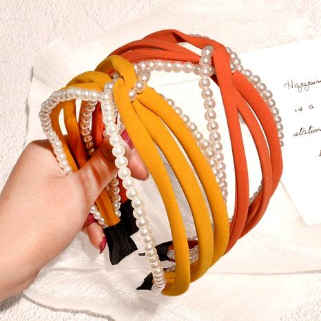 diadema de perlas de borde ancho con cuentas NHAQ293994's discount tags