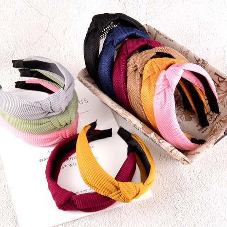 simple solid color fabric headband  NHAQ293997's discount tags