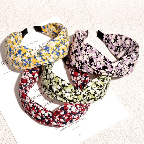broad-brimmed floral headband NHAQ294000's discount tags