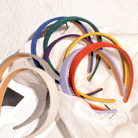 simple corduroy candy color headband  NHAQ294001's discount tags