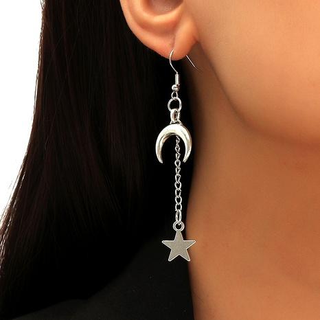 Vintage Bohemian Long Moon Star Earrings NHLA294029's discount tags