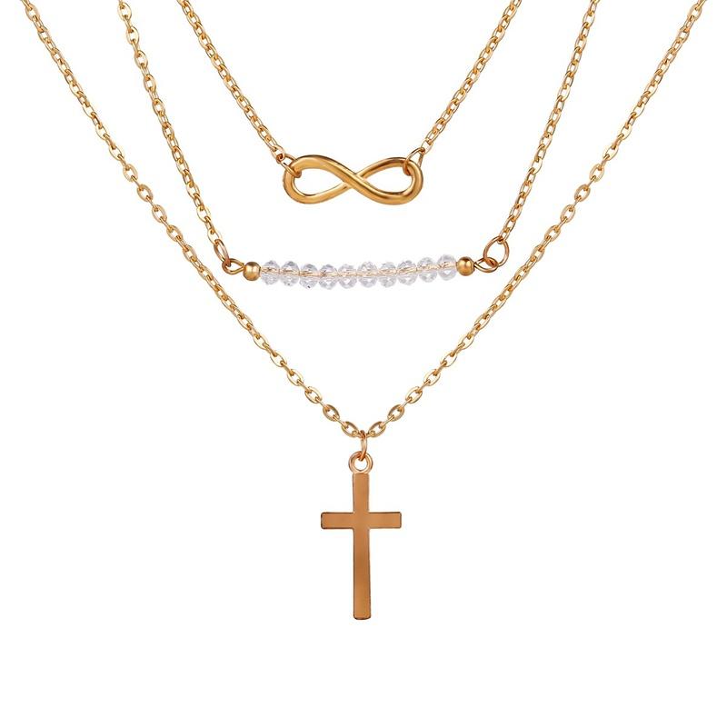 simple eye cross necklace NHYI294046