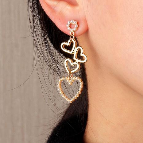fashion heart-shaped long earrings  NHNZ294061's discount tags