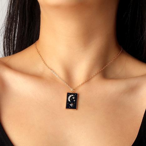 Collar de estrella y luna de diamantes de moda NHNZ294065's discount tags
