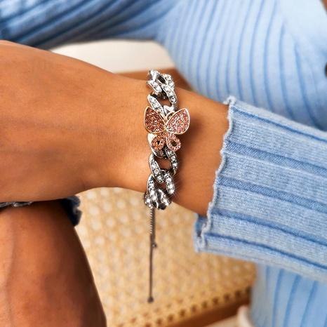 bracelet papillon simple micro-incrusté NHXR294076's discount tags