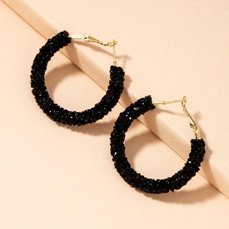 diamond-studded circle earrings  NHAI294098's discount tags