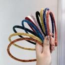 flannel fineedge simple solid color headband NHSM293597