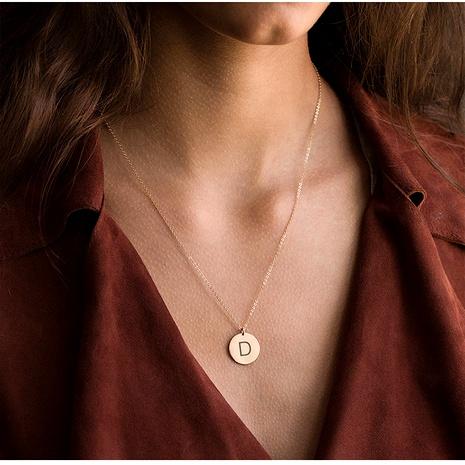 collier à pendentif lettre en acier titane NHTF294082's discount tags