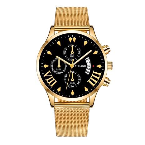 reloj con cinturón de malla de moda NHSS294136's discount tags