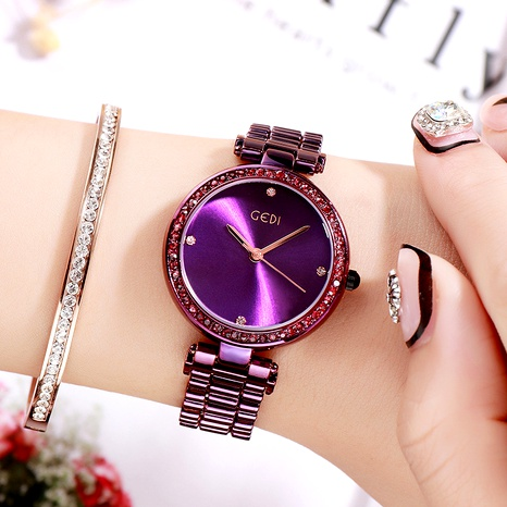 exquisite diamond-studded waterproof watch  NHSR294155's discount tags