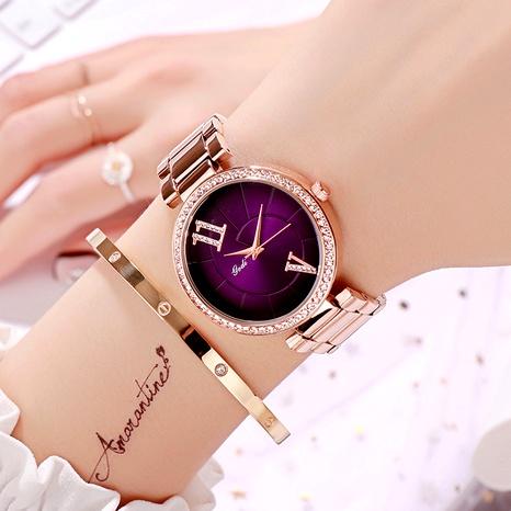 purple fashion big dial watch NHSR294170's discount tags