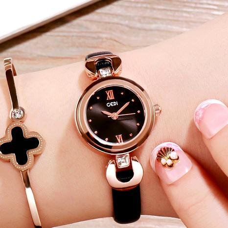 Reloj de cuarzo impermeable de moda simple con cinturón NHSR294172's discount tags