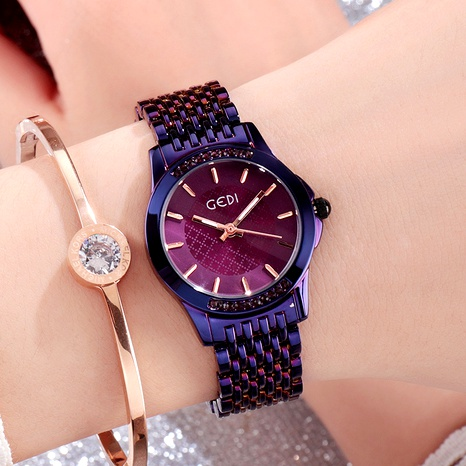 steel band fashionable dial diamonds watch  NHSR294177's discount tags