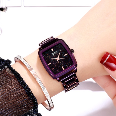 reloj cuadrado impermeable con diamantes NHSR294186's discount tags