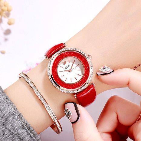 red simple belt watch NHSR294195's discount tags