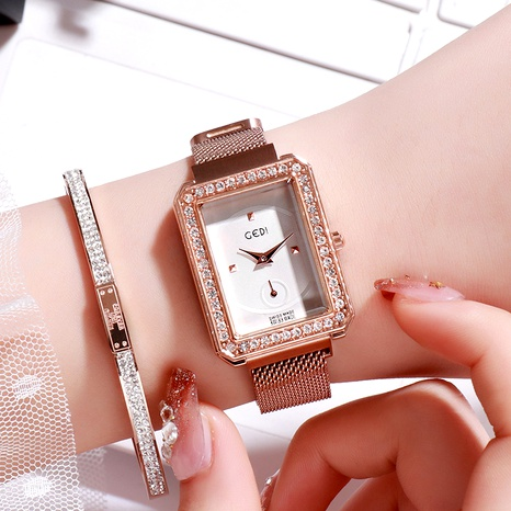 magnet square diamond watch NHSR294200's discount tags