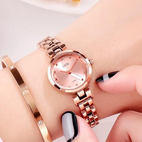 diamond rose gold steel waterproof watch NHSR294206's discount tags