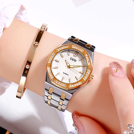 reloj de moda impermeable simple con diamantes NHSR294238's discount tags
