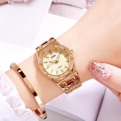 reloj de moda impermeable con diamantes incrustados NHSR294243's discount tags
