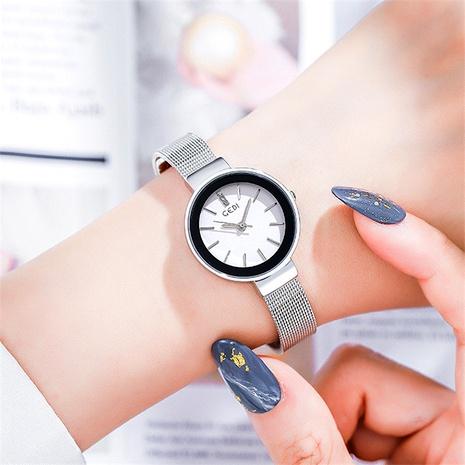 reloj de cuarzo impermeable con correa de malla NHSR294245's discount tags