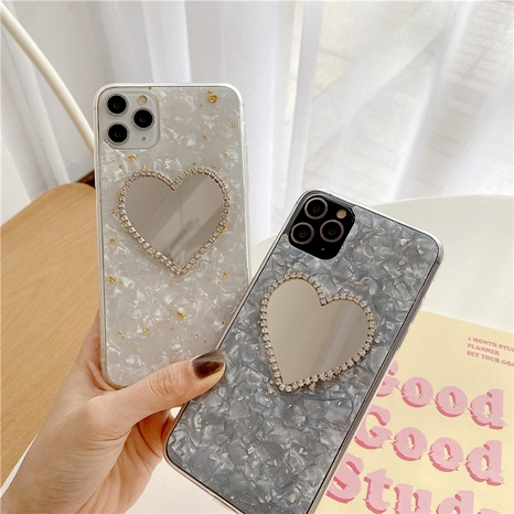 Korean gold foil shell mirror for iPhone11Promax mobile phone case Apple 78plusSE2 X NHFI294253's discount tags