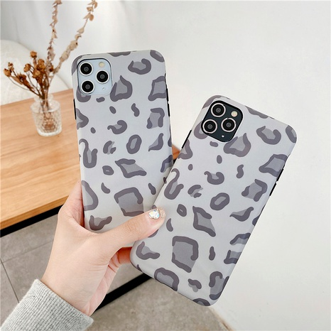 Simple light gray leopard print mobile phone case for Apple 11Pro XS MAX iPhone78plus NHFI294255's discount tags