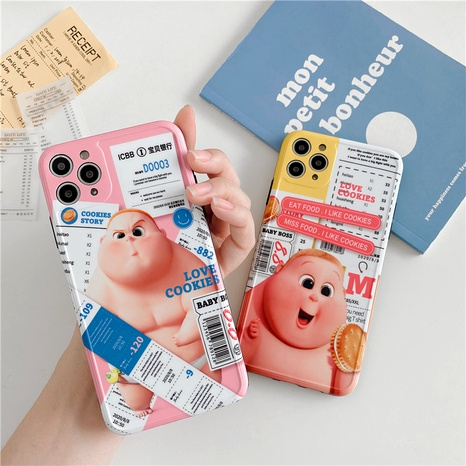 Cute little fat couple iPhone11Pro mobile phone case for Apple se2 all-inclusive soft shell 7plusXR NHFI294267's discount tags