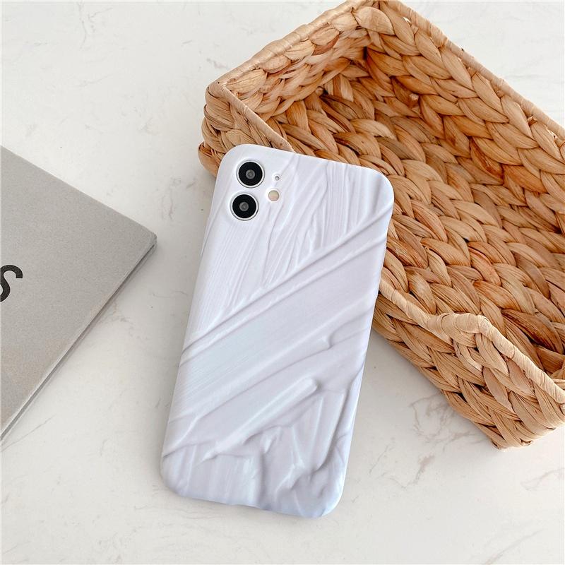 white ink iPhone12Promax mobile phone case for Apple se2 liquid soft shell 78plusX NHFI294304
