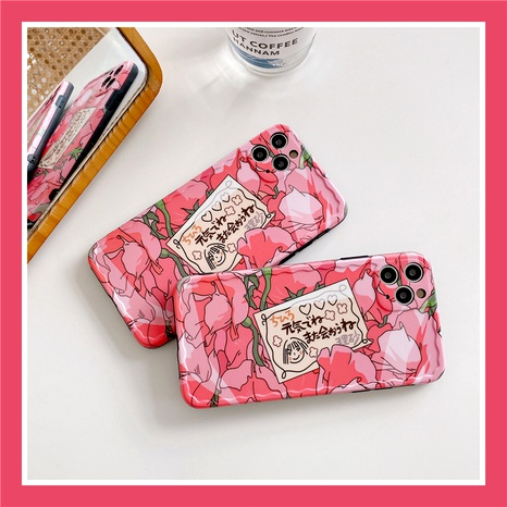 Pink cute iPhone11Promax mobile phone case for Apple 8plus silicone SE2XR NHFI294311's discount tags