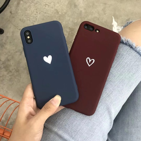 Simple love Apple pro max mobile phone case for iPhoneXSXR8plus7 NHFI294341's discount tags