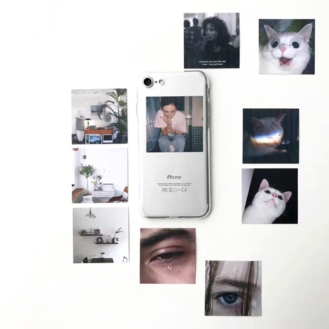 6splus small card diy simple cardboard ix/8p7plus transparent soft phone case NHFI294365's discount tags
