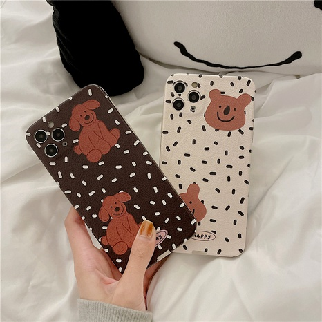 Silk pattern cute cartoon puppy 12mini11pro mobile phone case for Apple se2XRXS8plus NHFI294385's discount tags